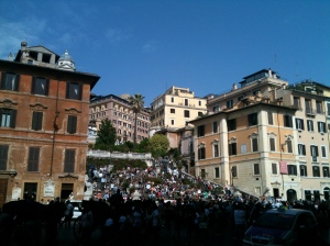 This is where normal people go on a sunny day in Rome.