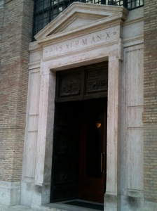 The entrance to the Archivio Segreto.