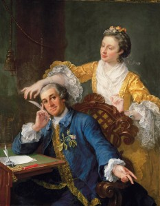 David Garrick with his Wife Eva-Maria Veigel. Royal Collection Trust/© Her Majesty Queen Elizabeth II 2014