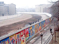 The Berlin Wall, built in 1961.